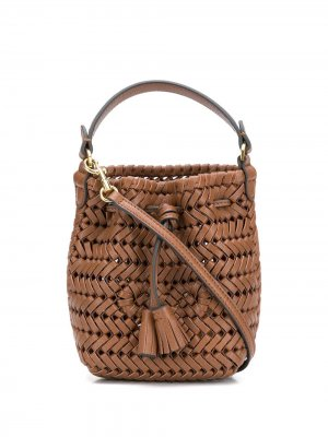 Мини-сумка Neeson с кулиской Anya Hindmarch. Цвет: коричневый