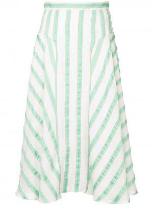 Расклешенная приталенная юбка Delpozo. Цвет: зеленый