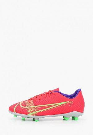 Бутсы Nike JR VAPOR 14 CLUB FG/MG. Цвет: красный