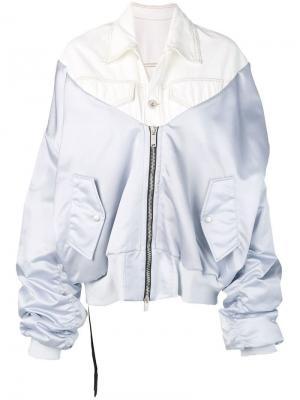Куртка-бомбер из микса тканей Unravel Project