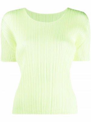 Short-sleeved pleated blouse Pleats Please Issey Miyake. Цвет: желтый