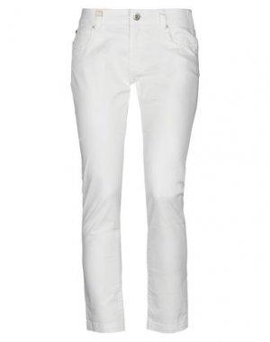 Повседневные брюки EIGHTH SIN. Цвет: белый