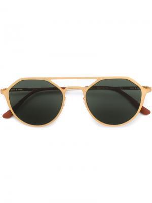 Солнцезащитные очки-авиаторы Italia Independent. Цвет: металлический