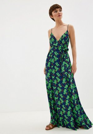 Сарафан Whistles NOA GRAPHIC CLOVER MAXI DRESS. Цвет: синий