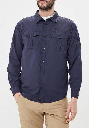 Рубашка Jack Wolfskin ATACAMA ROLL-UP SHIRT. Цвет: синий