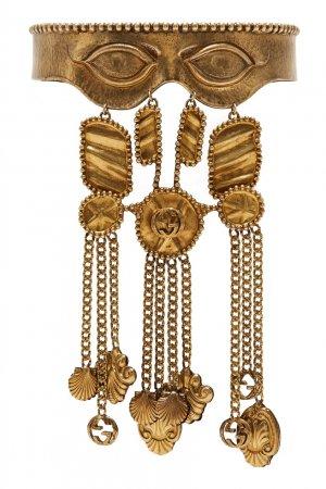 Золотистое колье-чокер Gucci. Цвет: золотой