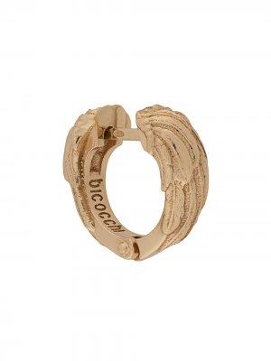 Серьга-кольцо Wing Emanuele Bicocchi. Цвет: золотистый