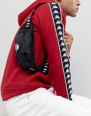 Черная сумка-кошелек на пояс с логотипом ленте Authentic Anais-Черный Kappa