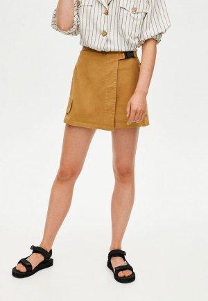 Юбка-шорты Pull&Bear. Цвет: коричневый