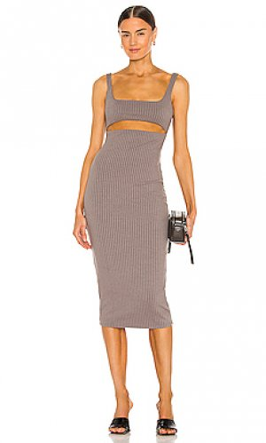 Платье dahlia h:ours. Цвет: серый