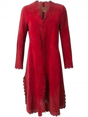 Пальто с фестонами Roberta di Camerino Pre-Owned. Цвет: красный
