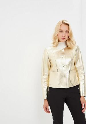 Куртка кожаная Madeleine MP002XW1GZU8. Цвет: черный, золотой
