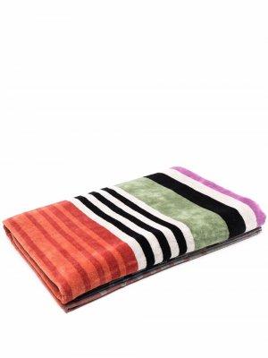 Пляжное полотенце в полоску Missoni Home. Цвет: синий