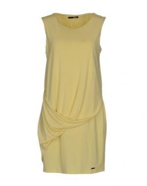 Короткое платье B.YU. Цвет: желтый