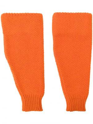 Перчатки без пальцев Raf Simons. Цвет: жёлтый и оранжевый