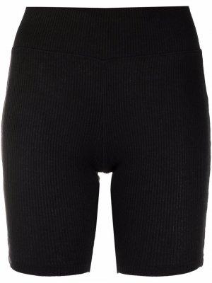 Шорты Knit в рубчик Rag & Bone. Цвет: черный