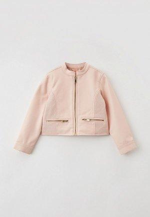 Куртка кожаная OVS. Цвет: бежевый