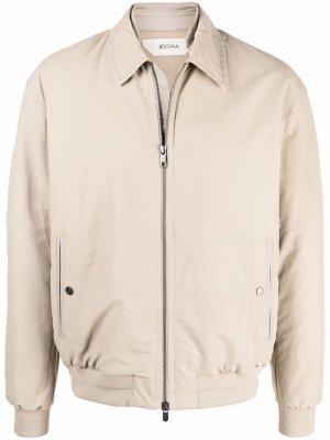 Куртка на молнии Z Zegna. Цвет: нейтральные цвета