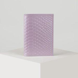 Обложка для паспорта, цвет светло-сиреневый TEXTURA