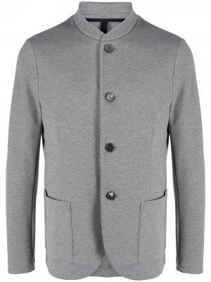 Однобортный пиджак с воротником-стойкой Harris Wharf London. Цвет: серый