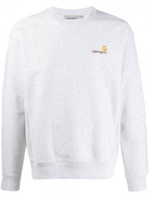 Толстовка с логотипом Carhartt WIP. Цвет: серый