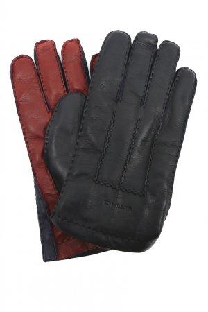 Перчатки из матовой кожи Etro. Цвет: синий