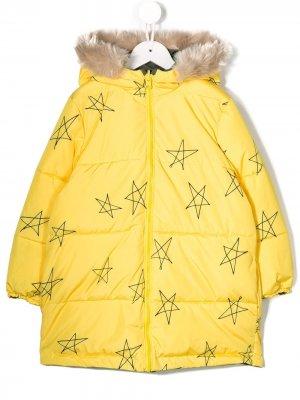 Двусторонняя куртка с капюшоном и принтом Bobo Choses. Цвет: желтый