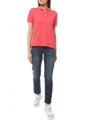 Рубашка Поло Tommy Jeans. Цвет: xav, claret red
