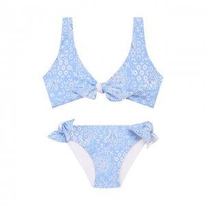 Раздельный купальник Melissa Odabash. Цвет: синий