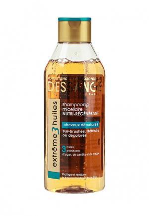 Шампунь Dessange для волос Extreme 3 масла экстремальное восстановление сильно поврежденных 250 мл. Цвет: прозрачный