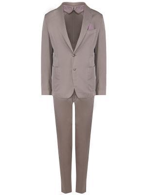 Хлопковый костюм Jerry Key. Цвет: серый