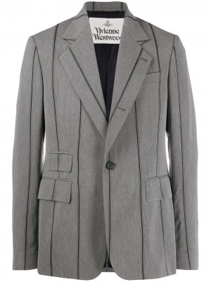 Пиджак в полоску Vivienne Westwood. Цвет: серый