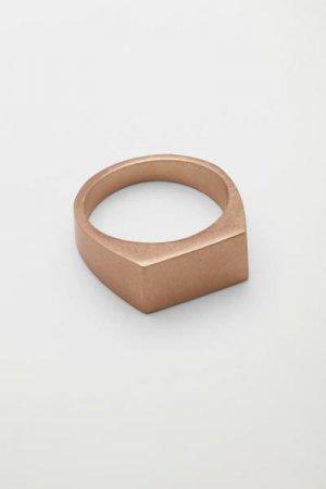 Кольцо-печатка Ibrahim Weekday. Цвет: золотистый