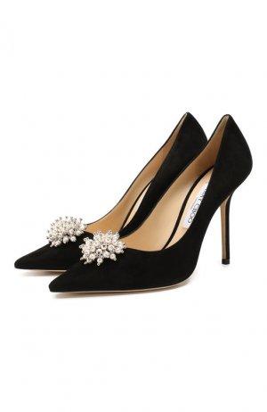 Замшевые туфли Edison 100 Jimmy Choo. Цвет: черный