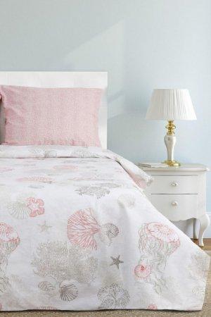 Постельное белье евро, 70x70 ЭТЕЛЬ. Цвет: розовый, серый
