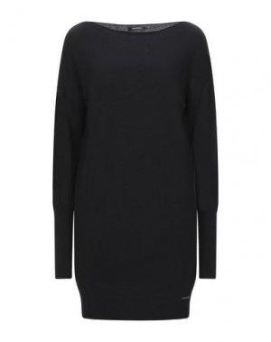 Короткое платье ELENA MIRO'. Цвет: черный