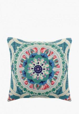 Подушка декоративная Wess Boho 40х40. Цвет: зеленый