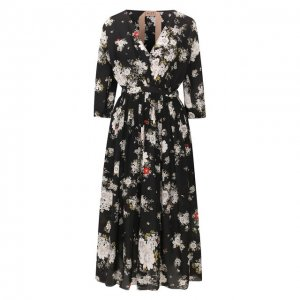 Шелковое платье No. 21. Цвет: разноцветный