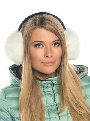 Теплые наушники Fur (белые) Kawaii Factory. Цвет: белый, черный