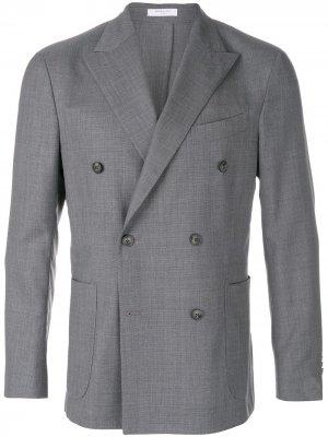 Двубортный пиджак Boglioli. Цвет: серый