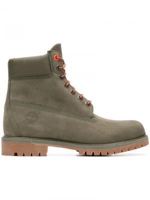 Ботинки Premium Timberland. Цвет: зеленый