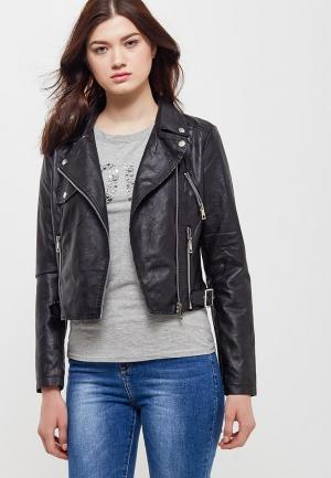 Куртка кожаная Adrixx AD021EWATWE7. Цвет: черный