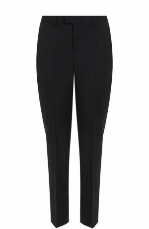 Укороченные брюки прямого кроя со стрелками REDVALENTINO. Цвет: черный