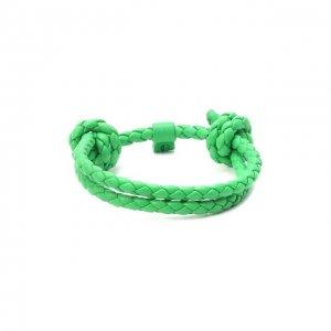 Кожаный браслет Bottega Veneta. Цвет: зелёный