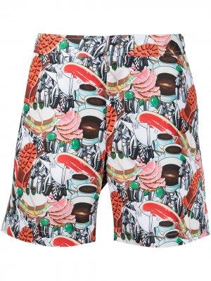 Плавки-шорты с принтом Orlebar Brown. Цвет: разноцветный