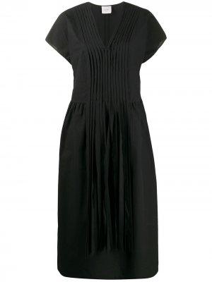 Платье со складками спереди Alysi. Цвет: черный