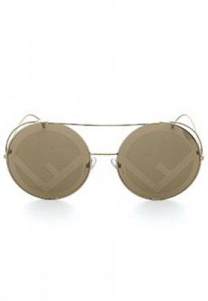 Солнцезащитные очки FENDI. Цвет: коричневый