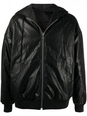 Куртка с капюшоном и жатым эффектом Juun.J. Цвет: черный