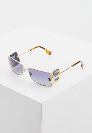 Очки солнцезащитные Burberry BE3110 10174L. Цвет: золотой