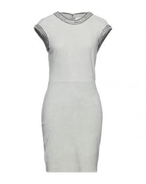 Платье миди JITROIS. Цвет: светло-серый